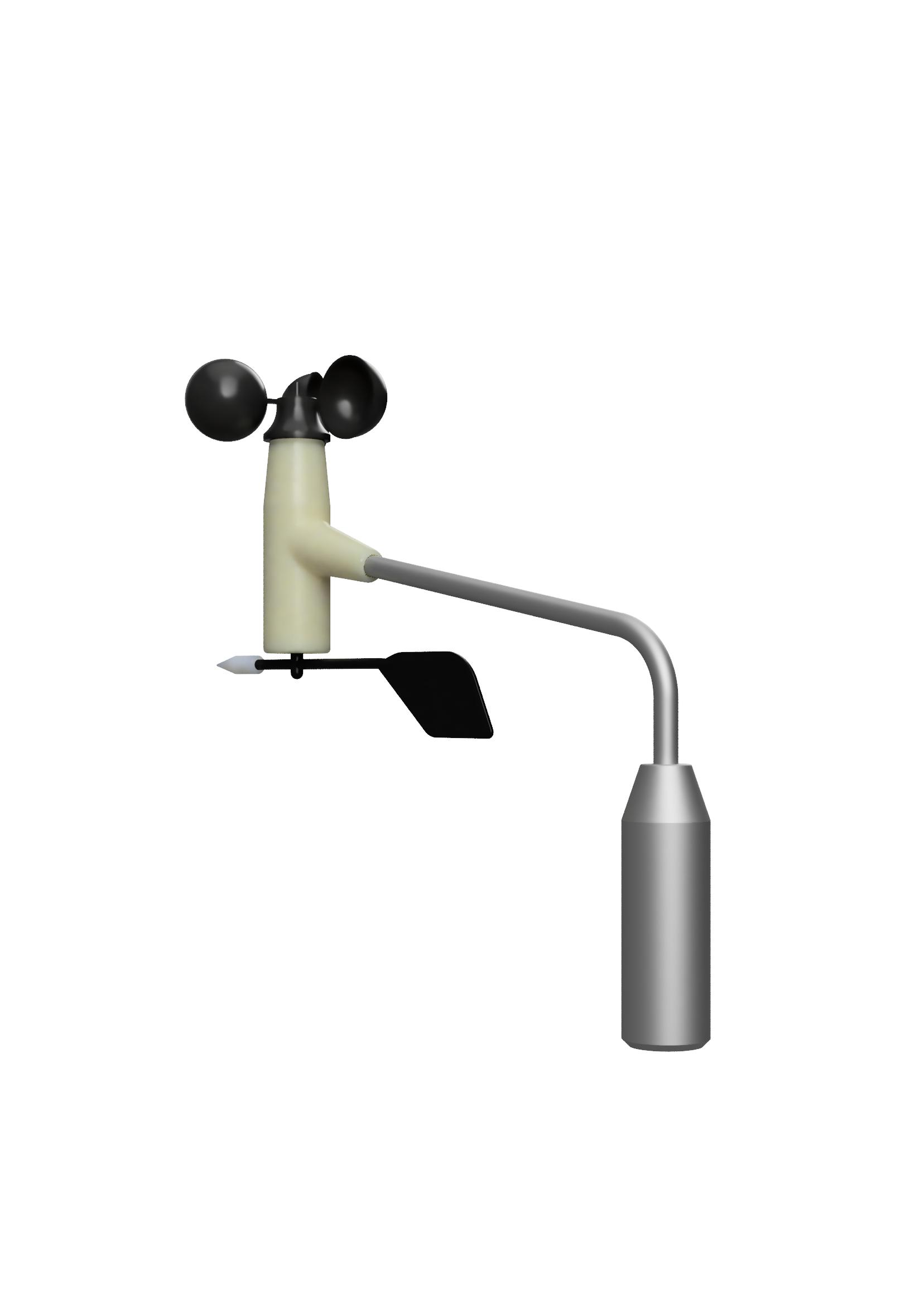 Meteofühler für Windgeschwindigkeit und Windrichtung (Alugehäuse) Windgeschw. mit Spannungsausgang / 0 - 2,1 V  Typ: f.566.2.29 mit Heizung